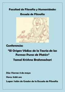Afiche Conferencia Veda